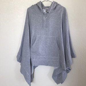 Haute Hippie Hooded Sweatshirt Poncho